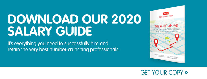 Download our 2020 Salary Guide. It's everything you need to successfully hire and retain the very best number-crunching professionals. Get your copy today.